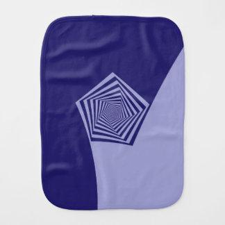 Pentagon Spiral Blues Burp Cloth