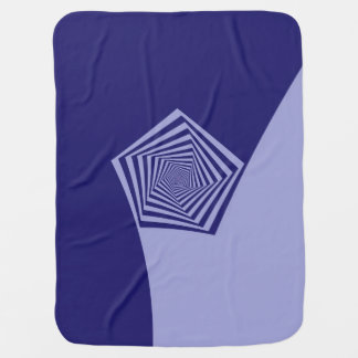 Pentagon Spiral Blues Receiving Blankets