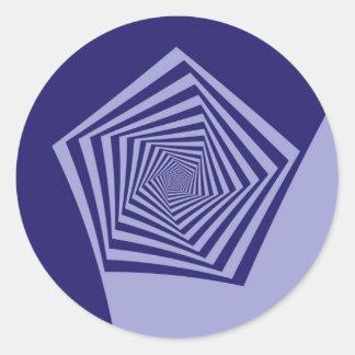 Pentagon Spiral Blues  Sticker