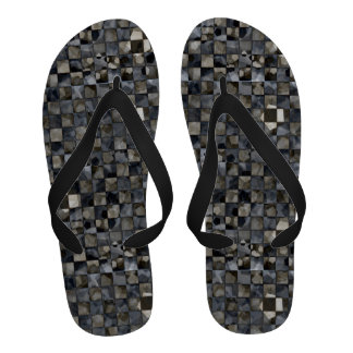 Pentagons and Squares Abstract Design Sandals