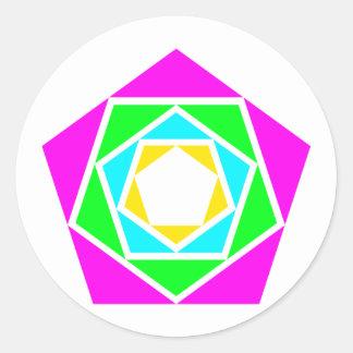 Pentagons of Pentagon Round Sticker