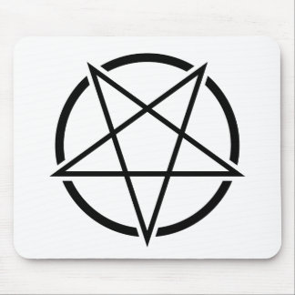 Pentagram_01_black.png Mouse Pad