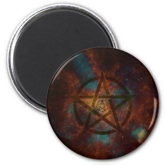 Pentagram 2 Inch Round Magnet