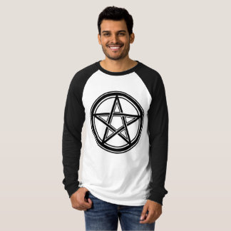 Pentagram - 666 - Hail Satan - Sleeve T-Shirt