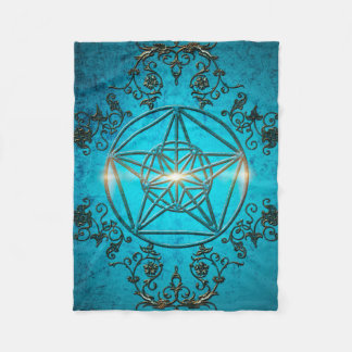 Pentagram, a  magical symbol. fleece blanket