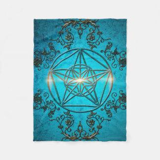 Pentagram, a  magical symbol. fleece blanket