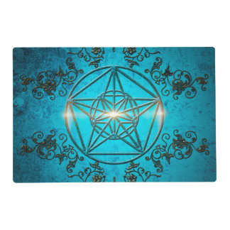 Pentagram, a mystic and magical symbol. laminated placemat