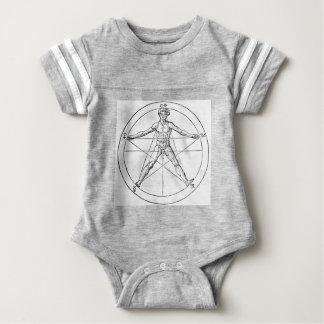 Pentagram_and_human_body_(Agrippa) Baby Bodysuit
