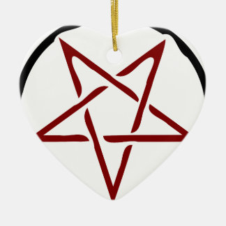 Pentagram Ceramic Ornament