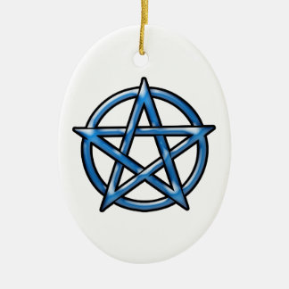 Pentagram Ceramic Oval Ornament