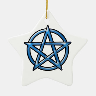 Pentagram Ceramic Star Ornament