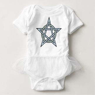 Pentagram-circle-interlaced Baby Bodysuit