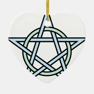 Pentagram-circle-interlaced Ceramic Ornament