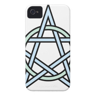Pentagram-circle-interlaced iPhone 4 Case