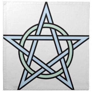 Pentagram-circle-interlaced Napkin