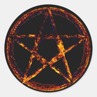 Pentagram Classic Round Sticker, Glossy Classic Round Sticker