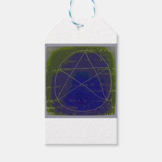pentagram dark magic circle ritual gift tags
