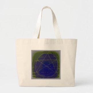 pentagram dark magic circle ritual large tote bag