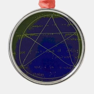 pentagram dark magic circle ritual metal ornament