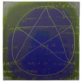 pentagram dark magic circle ritual napkin