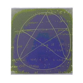 pentagram dark magic circle ritual notepad