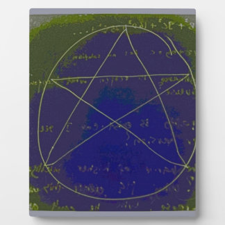 pentagram dark magic circle ritual plaque