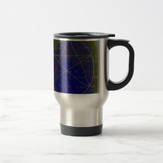 pentagram dark magic circle ritual travel mug