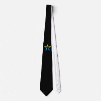 pentagram doubles rainbow 1 black - tie