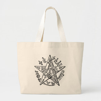 Pentagram_(Levi) Large Tote Bag