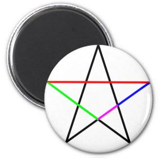 Pentagram-phi 2 Inch Round Magnet