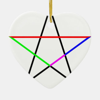 Pentagram-phi Ceramic Ornament
