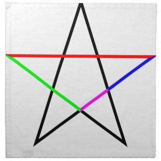 Pentagram-phi Napkin