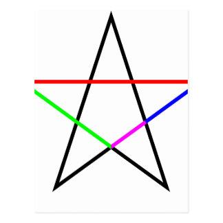 Pentagram-phi Postcard
