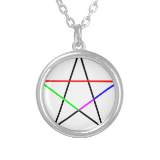 Pentagram-phi Silver Plated Necklace