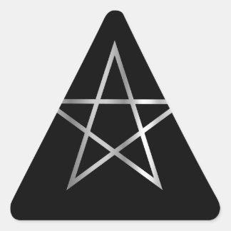 Pentagram- Religious symbol of satanism Triangle Sticker
