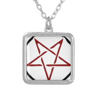 Pentagram Silver Plated Necklace