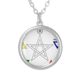 Pentagram_ Silver Plated Necklace