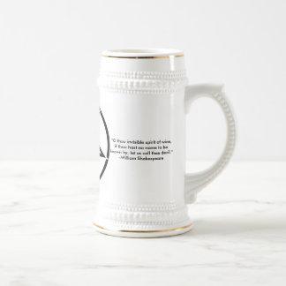 Pentagram Stein with Quote 18 Oz Beer Stein