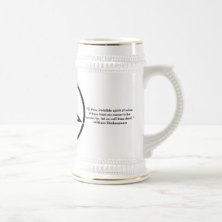 Pentagram Stein with Quote Beer Steins