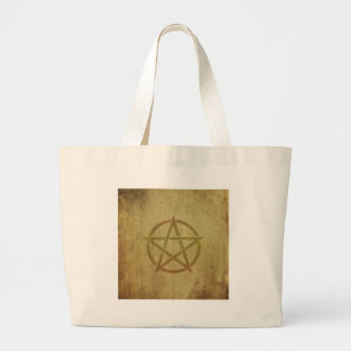 Pentagram Textured Large Tote Bag