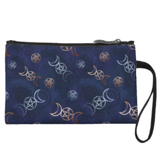 Pentagram Wiccan Witch Pagan Occult Wizard Wristlet