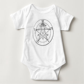 Pentagram_with_one_point_up Baby Bodysuit