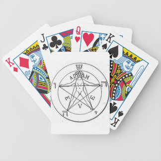 Pentagram_with_one_point_up Bicycle Playing Cards
