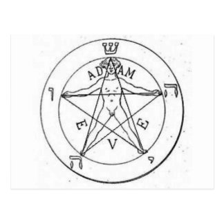 Pentagram_with_one_point_up Postcard
