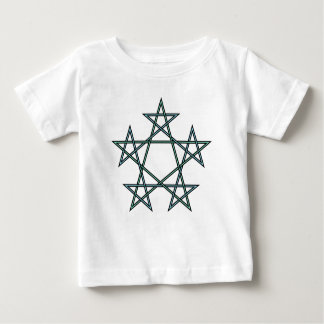 Pentagrams-interlaced-pattern Baby T-Shirt