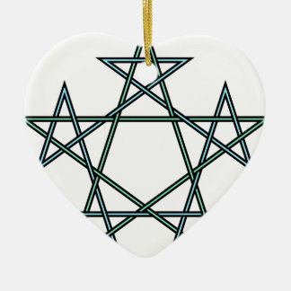 Pentagrams-interlaced-pattern Ceramic Ornament