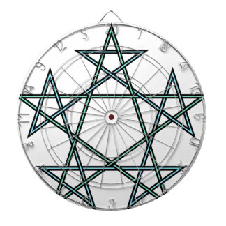 Pentagrams-interlaced-pattern Dartboard