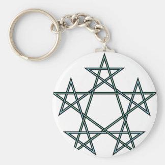Pentagrams-interlaced-pattern Keychain