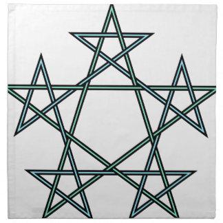 Pentagrams-interlaced-pattern Napkin