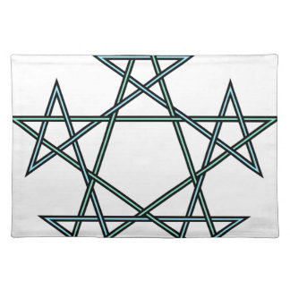 Pentagrams-interlaced-pattern Placemat